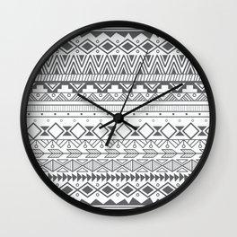 Aztec pattern 004 Wall Clock