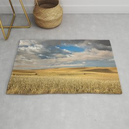 Iowa in November - Golden Corn Field in Autumn Rug
