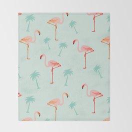 Vintage Flamingos Throw Blanket