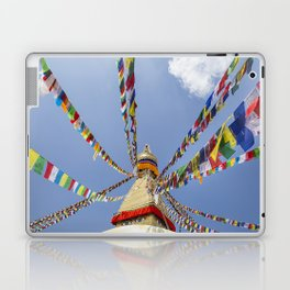 Tibetan prayer flags at Boudha stupa in Kathmandu, Nepal Laptop & iPad Skin