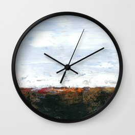 Rangipo Desert Road, New Zealand Wall Clock