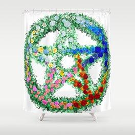 Elemental Flowers Shower Curtain