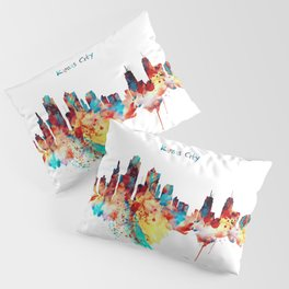 Kansas City Skyline Silhouette Pillow Sham