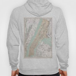 Vintage Map of New York City (1895) Hoody