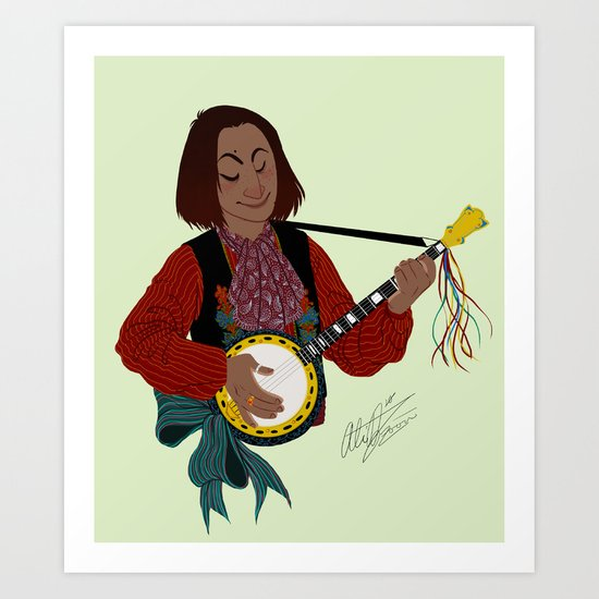 O cino muzikánto (The little musician) Art Print