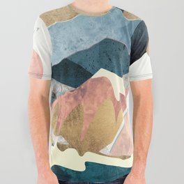 Golden Peaks All Over Graphic Tee