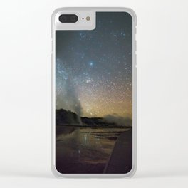 Grand Prismatic Spring Clear iPhone Case
