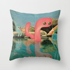 lago animato Throw Pillow