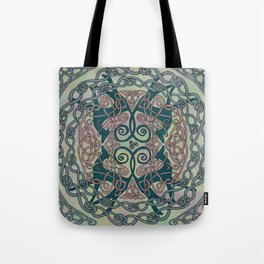 Art Nouveau Greyhounds - Pale Green Tote Bag