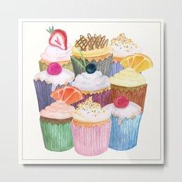 Cupcake Cluster Metal Print