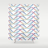 dna Shower Curtains featuring DNA by FACTORIE
