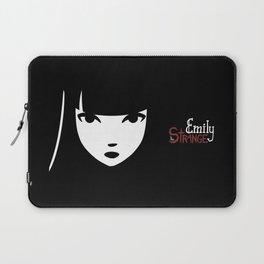 Emily the Strange: Emily's face Laptop Sleeve