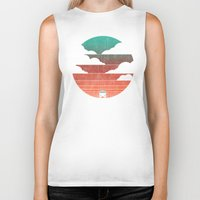 summer Biker Tanks featuring Go West by Picomodi