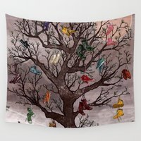 shoe Wall Tapestries featuring Shoe Tree by Taylor Rose
