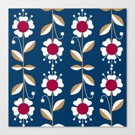 Blue floral pattern . Canvas Print