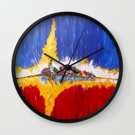 Mistral d'été Wall Clock