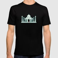 Taj Mahal is Love MEDIUM Mens Fitted Tee Black