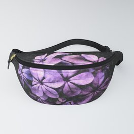 Tropical Plumbago Flowers Bouquet Floral Painting Fanny Pack