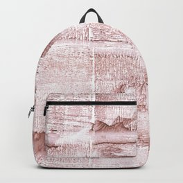 Rosy brown blurred watercolor pattern Backpack