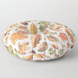 Watercolour Autumn Leaves. Floor Pillow