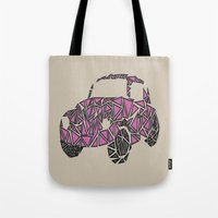 beetle Tote Bags featuring Beetle  by Victoria-Anne