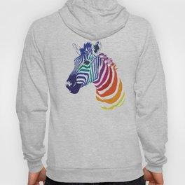 Rainbow Zebra Colorful Animal Hoody