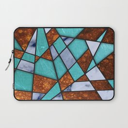 #477 Marble Shards & Copper Laptop Sleeve