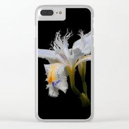 Elegant Iris Japonica / Fringed Iris Flower Clear iPhone Case