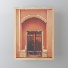Abyaneh Door #2 (from the series 'Iranian Doors') Framed Mini Art Print