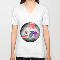 evangelion V-neck T-shirts featuring Evangelion by icantusechanwei