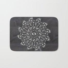 Musical mandala on chalkboard Bath Mat