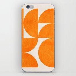 Geometric Shapes orange mid century iPhone Skin