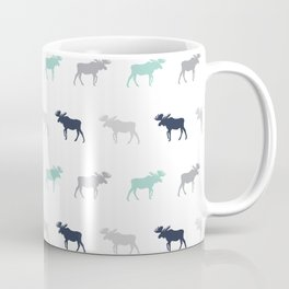 Moose pattern minimal nursery basic grey and white camping cabin chalet decor Coffee Mug