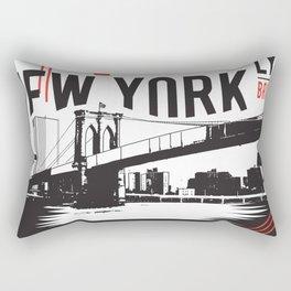 Brooklyn New Yorker Rectangular Pillow