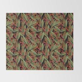 Flowering Gum - Black Throw Blanket