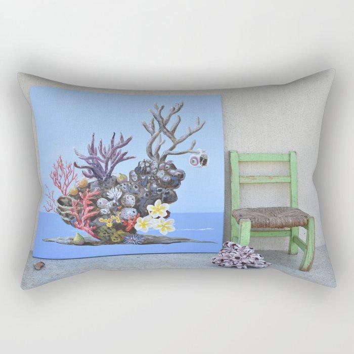 Fig Tree Bay Still Life Rectangular Pillow