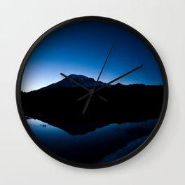 Mt Rainier @ Sunset Wall Clock