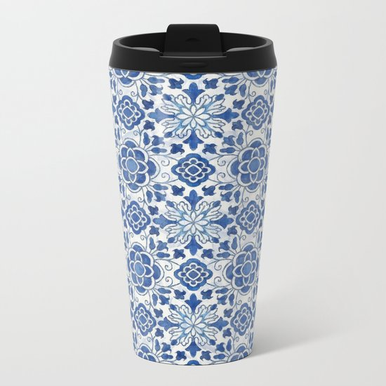 Azulejos Metal Travel Mug