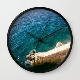 Stairs to the Sea Wall Clock