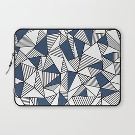 Abstraction Lines with Navy Blocks Laptop Sleeve