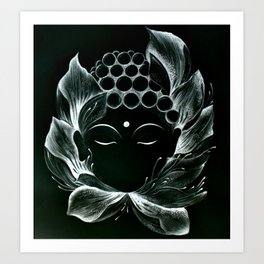 Tiny buddha 2 Art Print