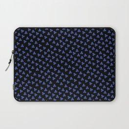 Blue Triskele on Black Pattern Laptop Sleeve
