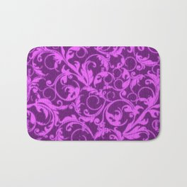 Vintage Swirls Winterberry Orchid Purple Bath Mat