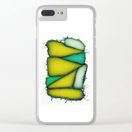 Crushed yellow Clear iPhone Case