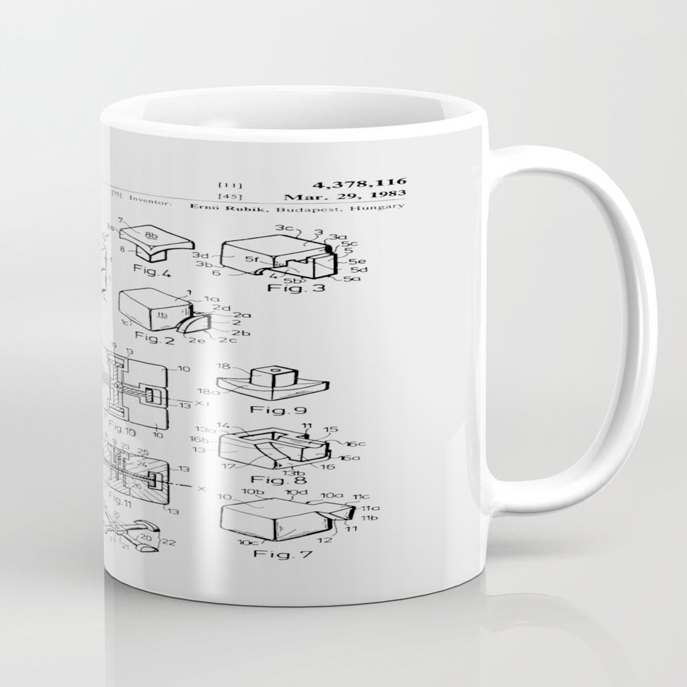 Rubiks Cube Patent Mug by Woahjonny MUG7966575
