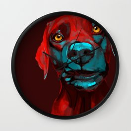 The Dogs: Rufus Wall Clock