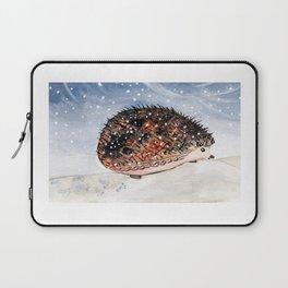 Hedgehog Facing Blizzard Laptop Sleeve