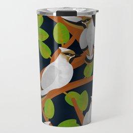 Bohemian waxwing pattern Travel Mug
