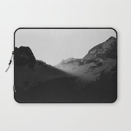 Sun rays over the mountains Laptop Sleeve