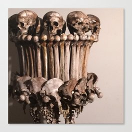 Catacomb Culture - Human Skull Bone Lamp Canvas Print